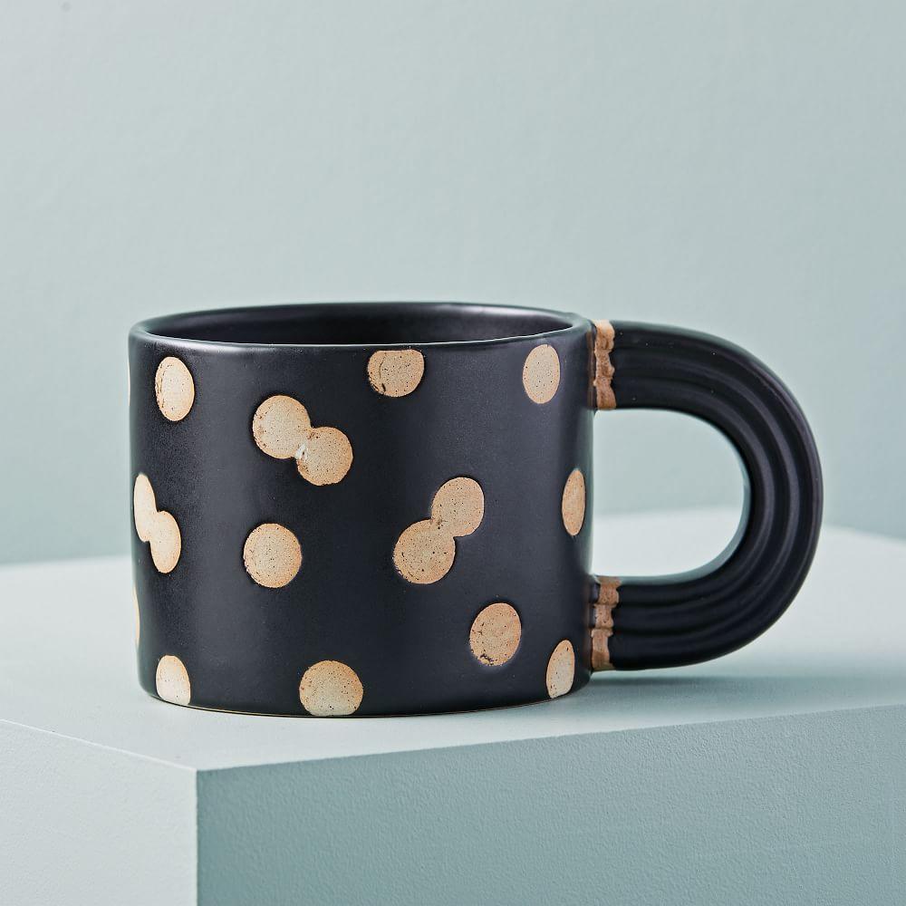 Exposed Clay Mugs - Dots