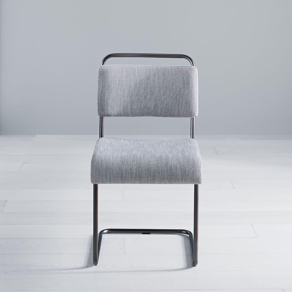 Industrial Cantilever Upholstered Dining Chair