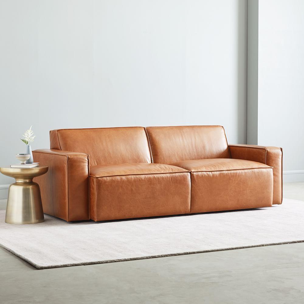 Sedona Leather Sofa (208 Cm) - Saddle