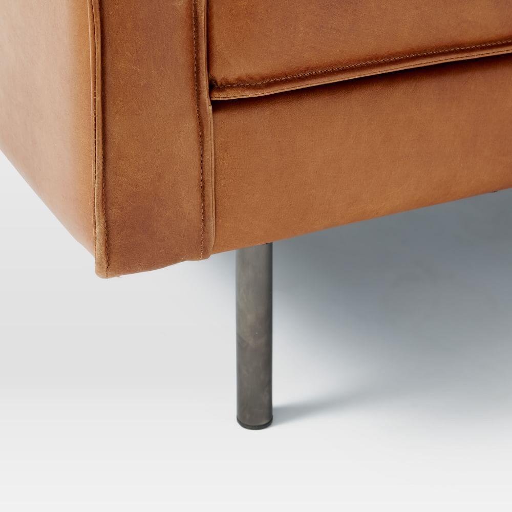 Axel Leather Sofa (226 cm) - Saddle