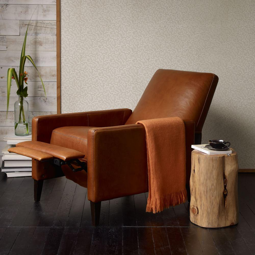 Sedgwick Recliner Leather West Elm Uk