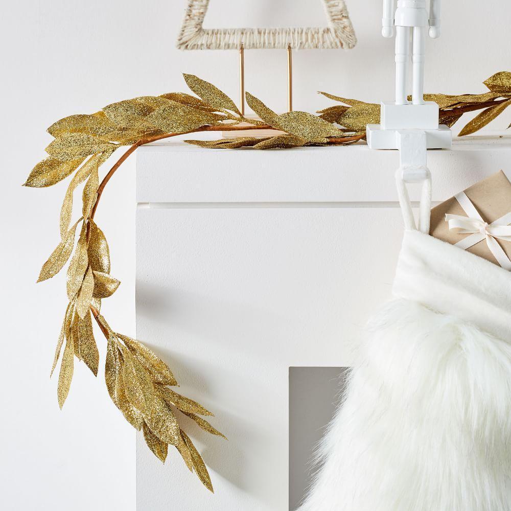 Kraft + Glitter Garland - Leaf