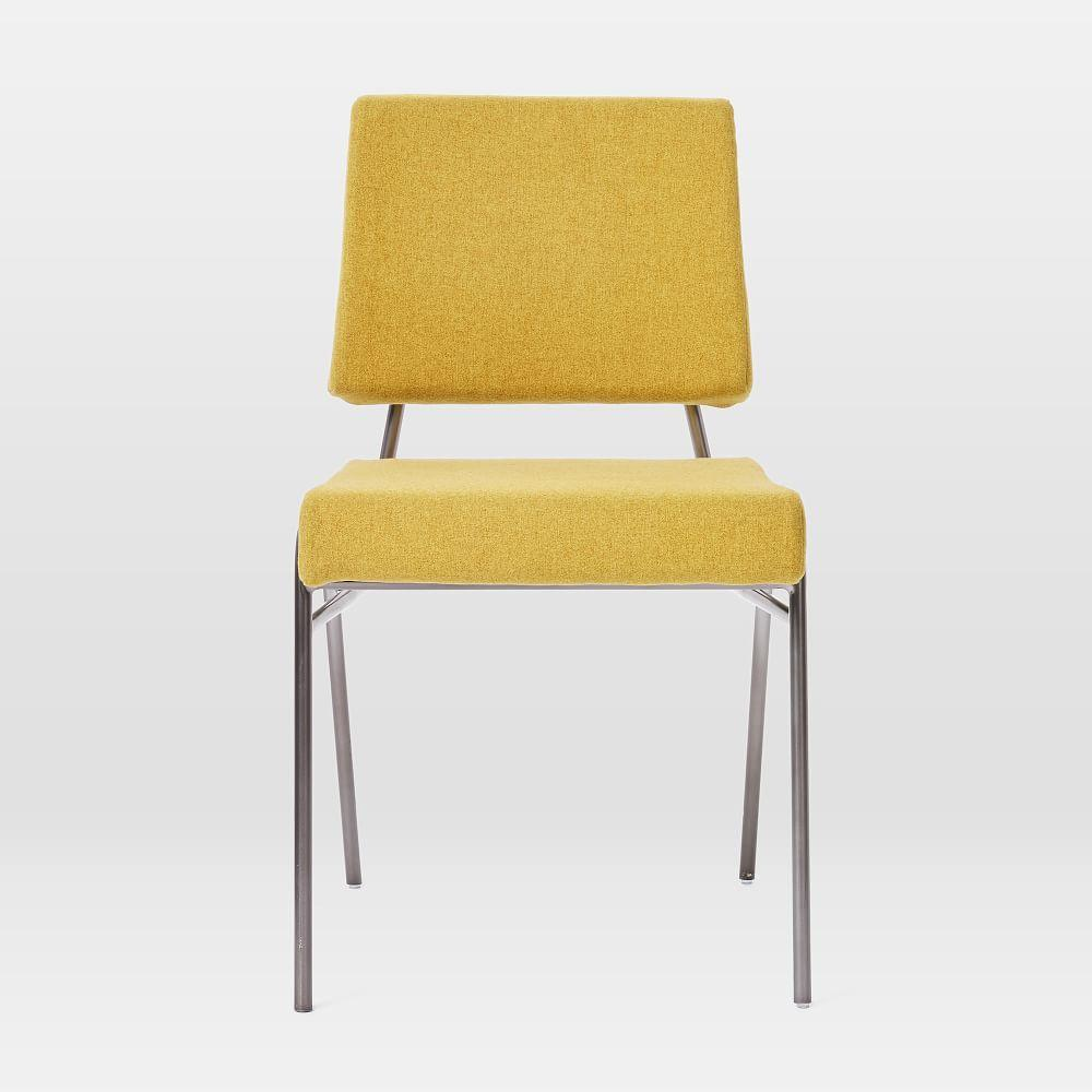 Wire Frame Upholstered Dining Chair Horseradish West