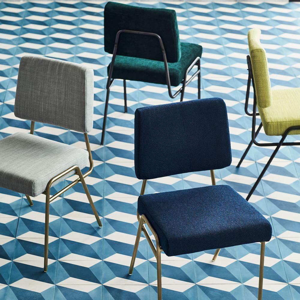 Wire Frame Velvet Dining Chair | west elm UK