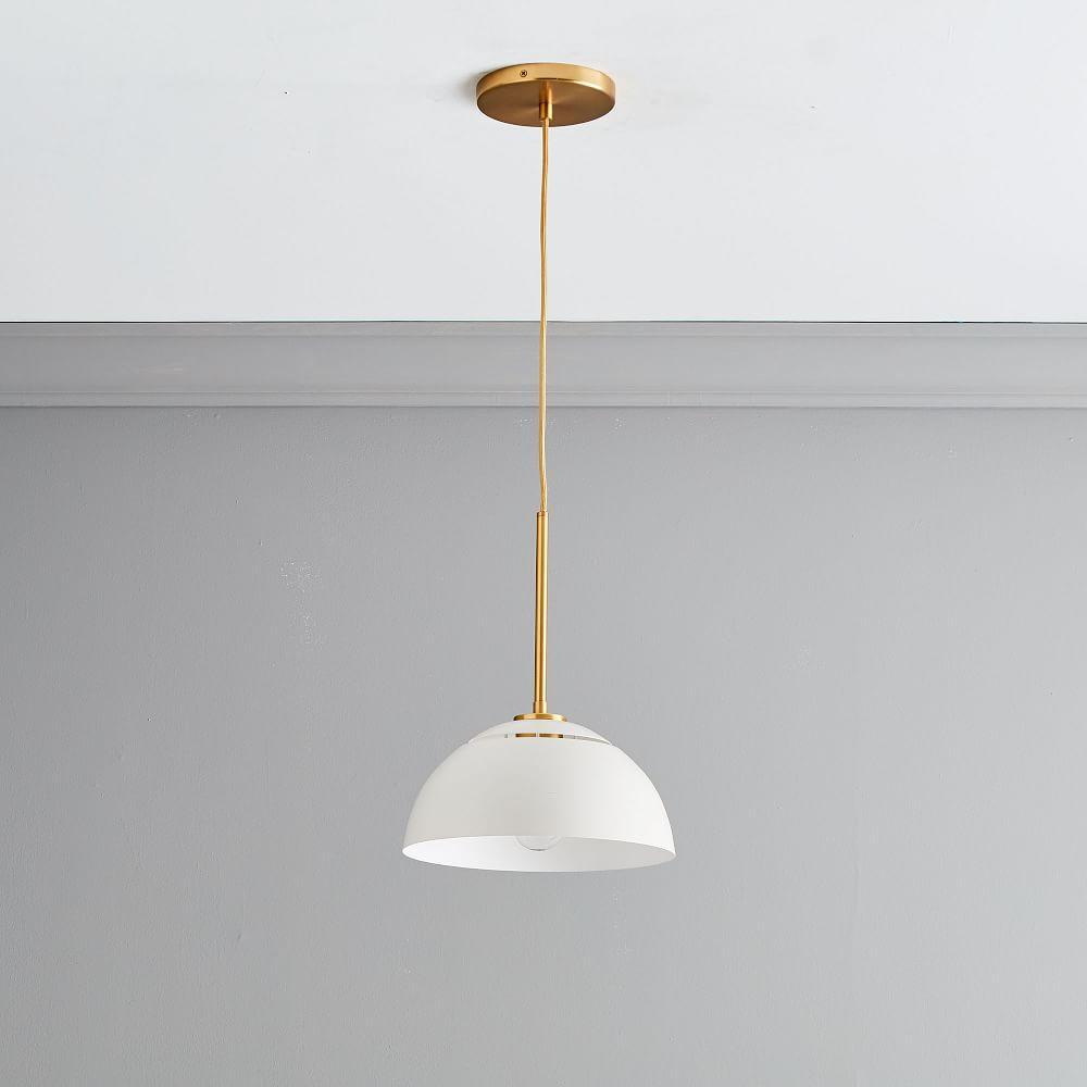 Sculptural Metal Ceiling Lamp - Medium (White)