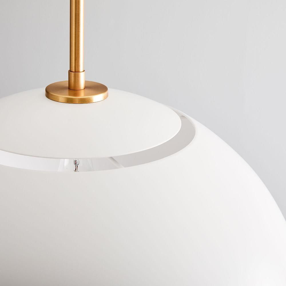 Sculptural Metal Ceiling Lamp - Large (White/Brass)