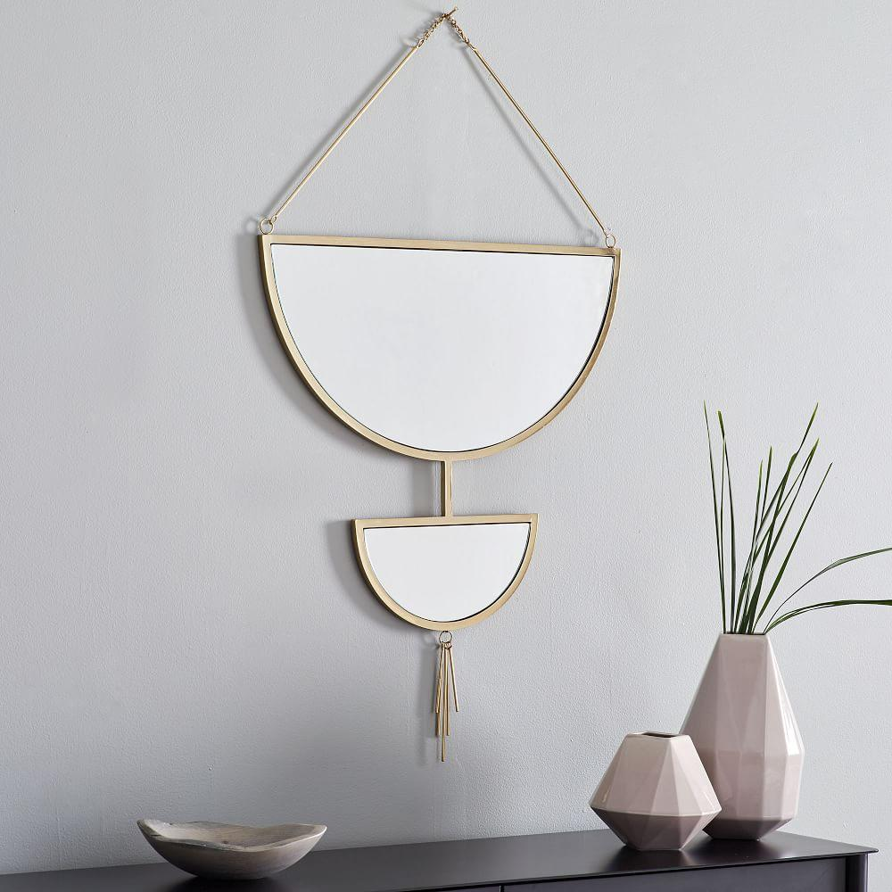 Hanging Half Moon Mirror