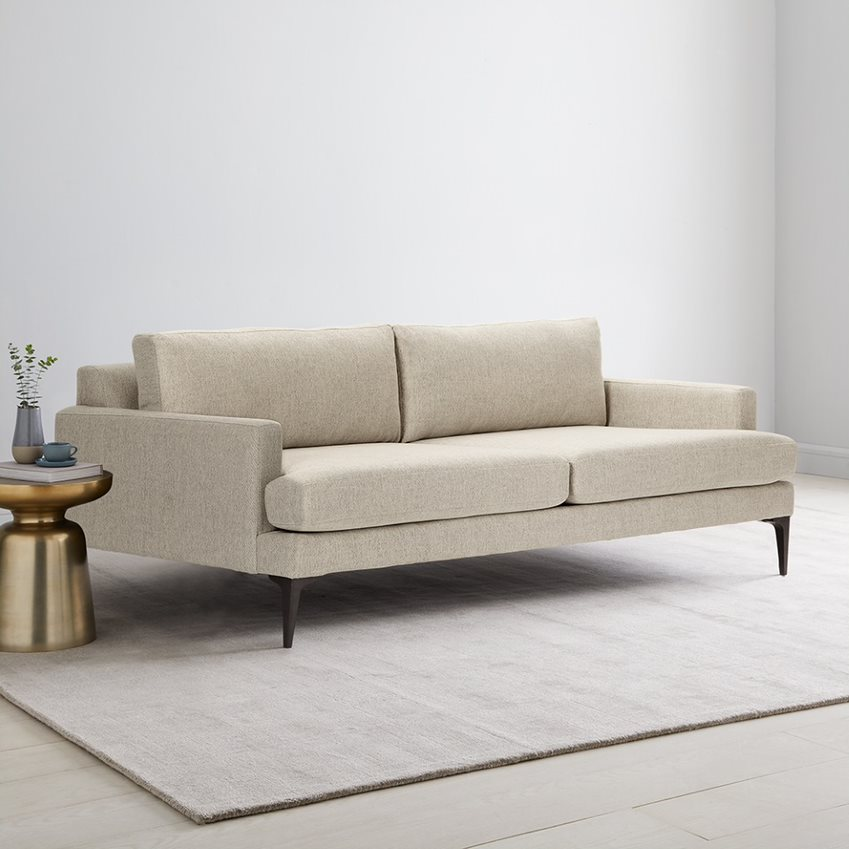 Andes Double Sofa Bed 212 cm   west elm UK