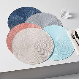 Round Woven Placemats (Set of 2)