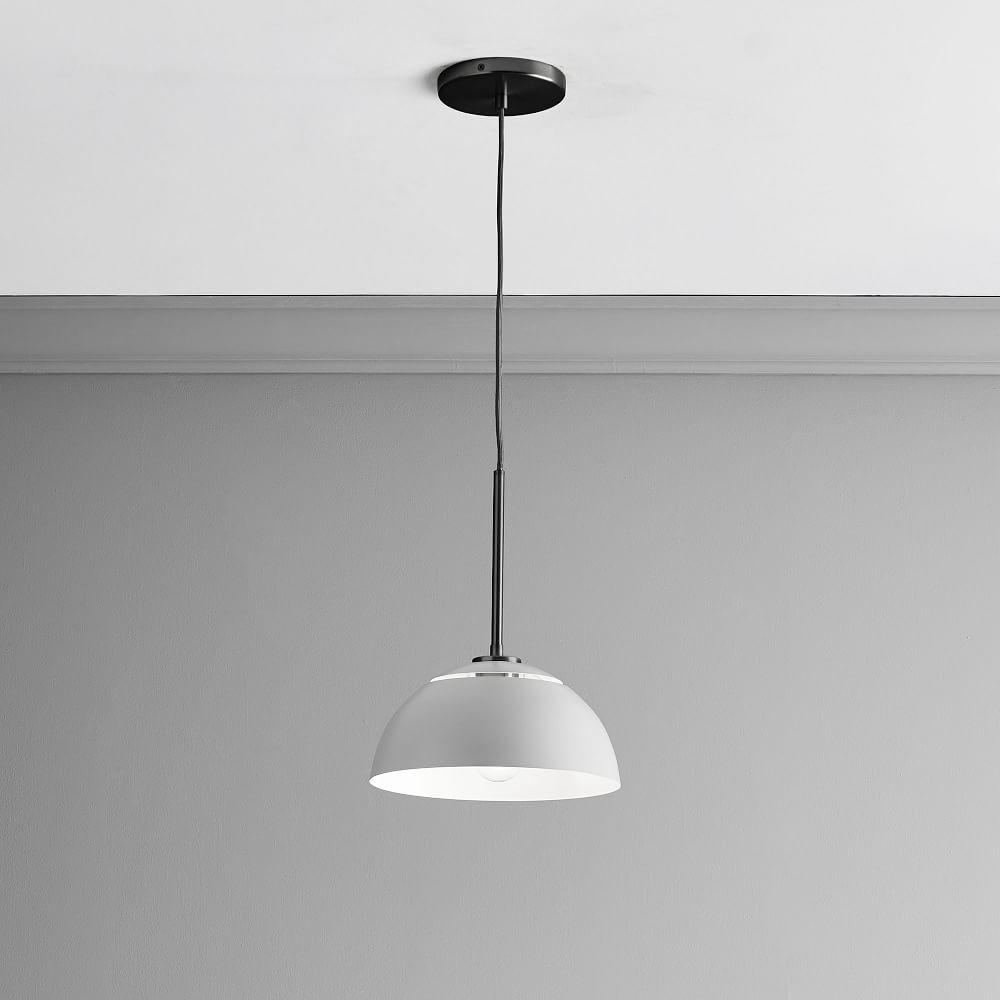 Sculptural Metal Ceiling Lamp - Medium (Grey)