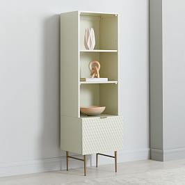 Audrey Media Tower (1-Door Storage + Hutch)