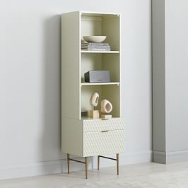 Audrey Media Tower (2-Drawer Storage + Hutch)