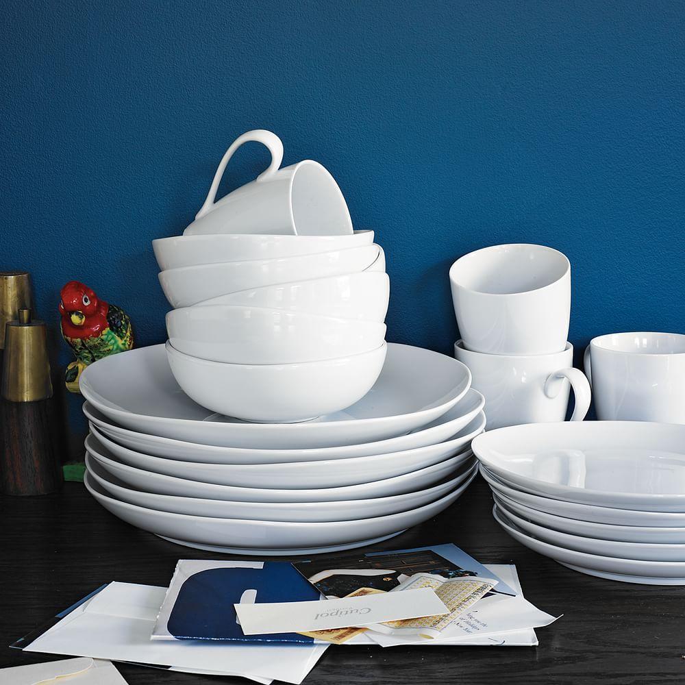 modern white dinnerware - organic shaped dinnerware west elm uk