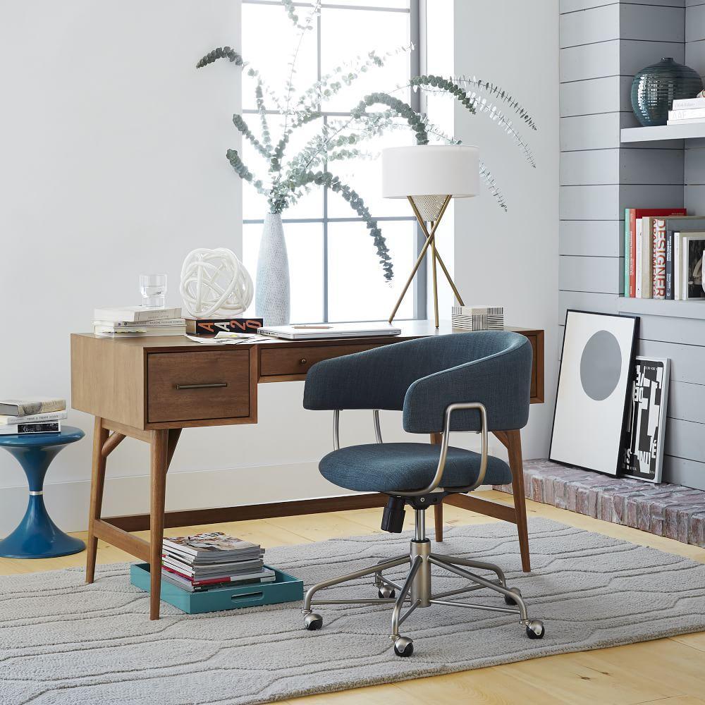 Mid Century Desk Acorn West Elm Uk