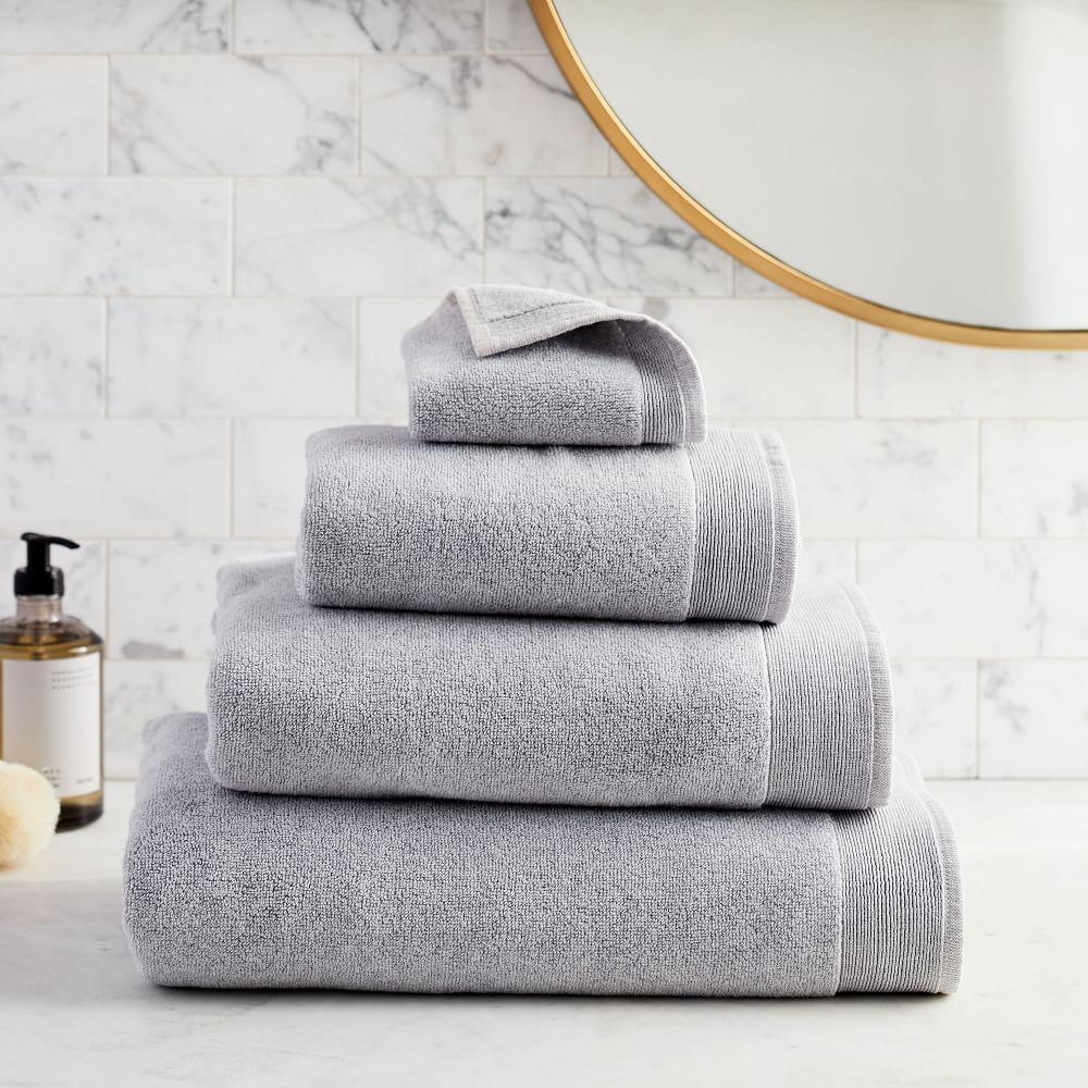 Organic Luxe Fibrosoft™ Towels - Grey Sky Melange