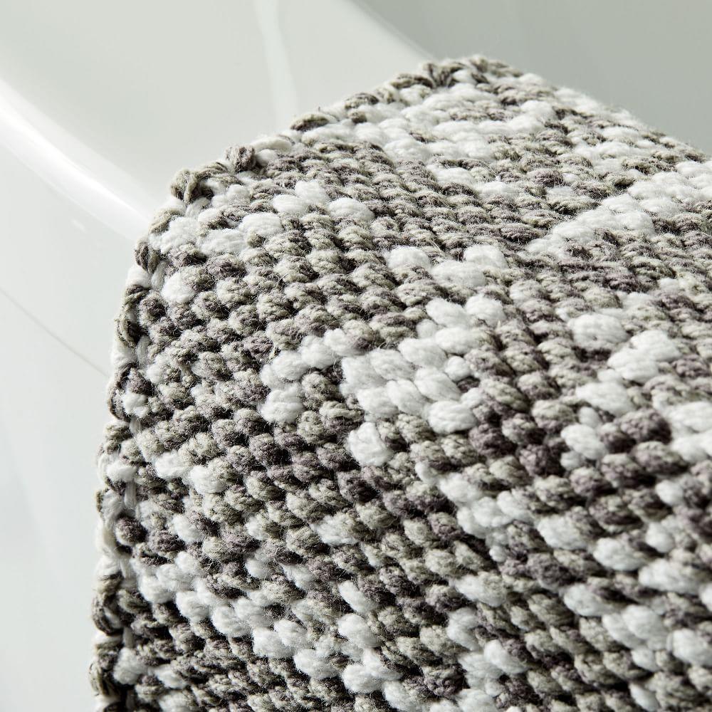 Organic Distressed Texture Bath Mat - Grey Sky