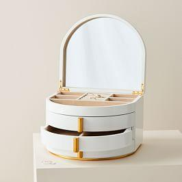 Modern Lacquer Jewellery Box Soft Geo (Grand)