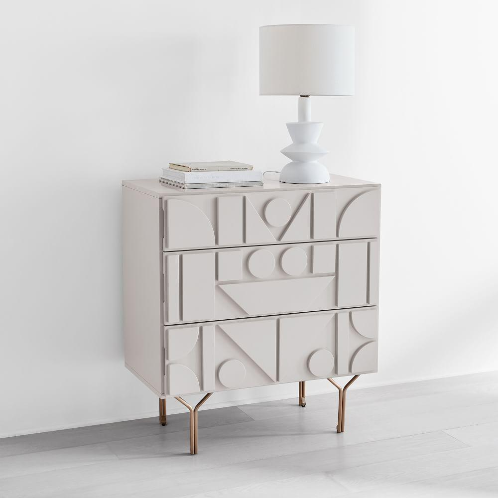 Pictograph 3-Drawer Chest - Flax