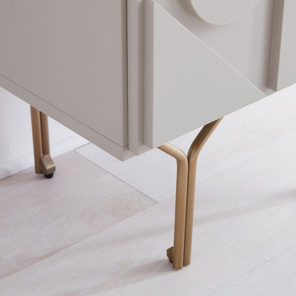 Pictograph Bedside Table - Flax