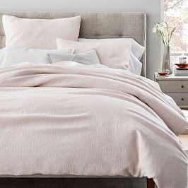 TENCEL™ Cotton Matelasse Duvet Cover + Pillowcases - Pink Blush