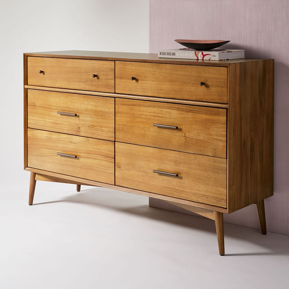 Mid-Century 6-Drawer Chest - Acorn