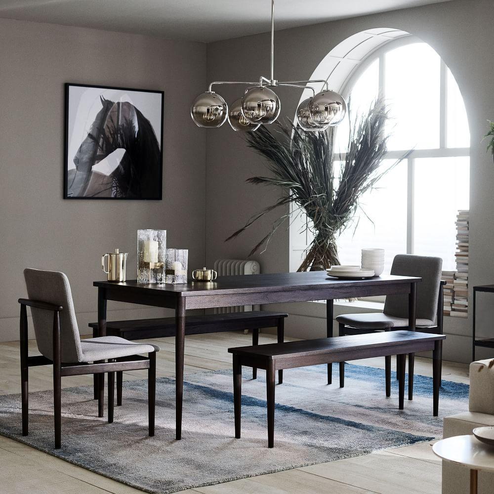 Fabulous Modern Farmhouse Dining Bench Dark Mineral West Elm Uk Cjindustries Chair Design For Home Cjindustriesco