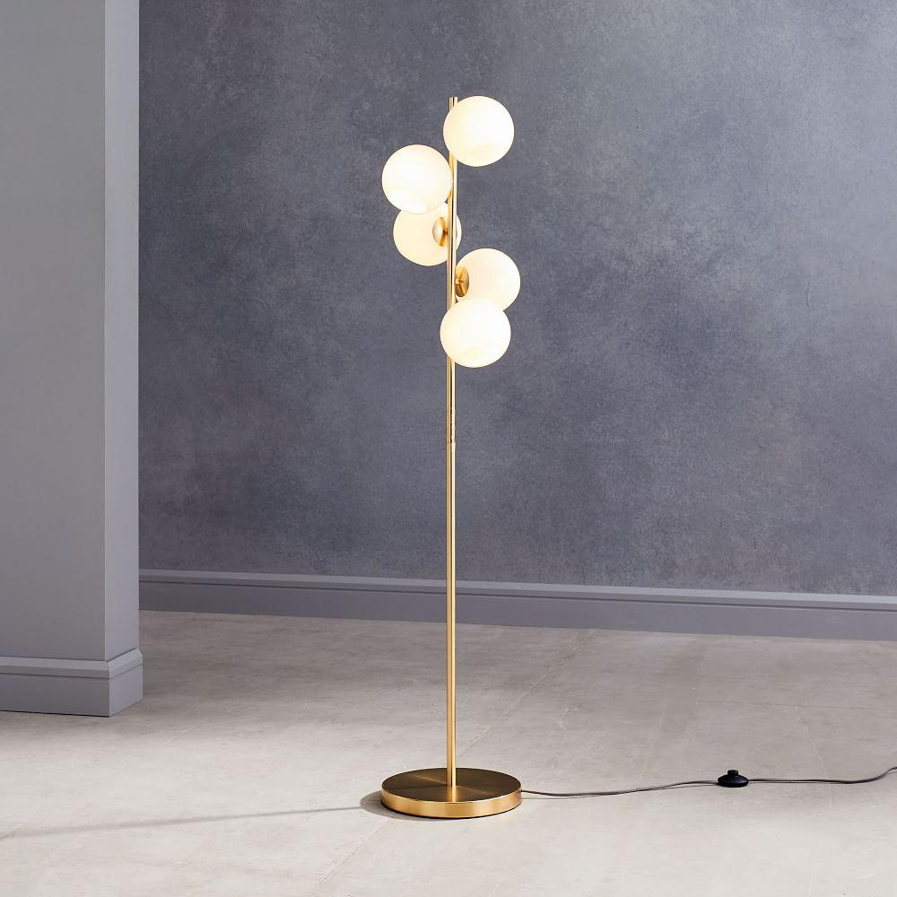 Staggered Glass Floor Lamp - 5-Light