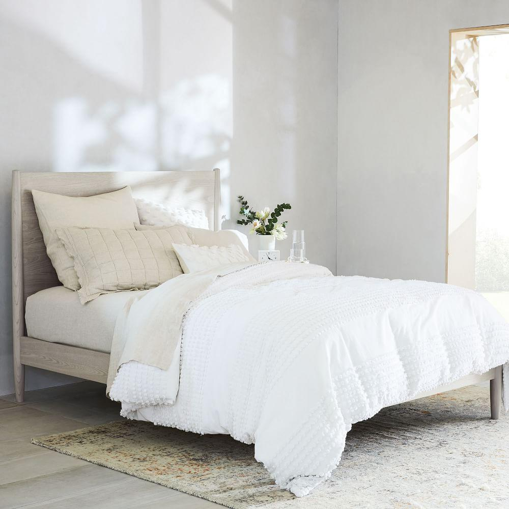 Mid-Century Bed - Pebble