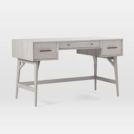 Mid-Century Desk - Pebble