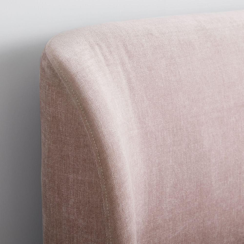 Lana Upholstered Bed - Light Pink (Distressed Velvet)
