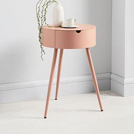 Mitzi Bedside Table - Antique Rose