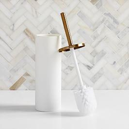Modern Resin Stone Toilet Brush Holder