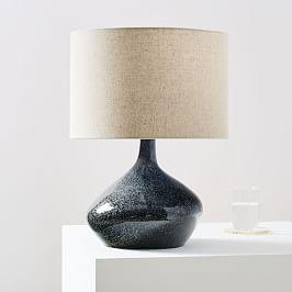 Asymmetry Ceramic Table Lamp - Small (Speckled Moss)