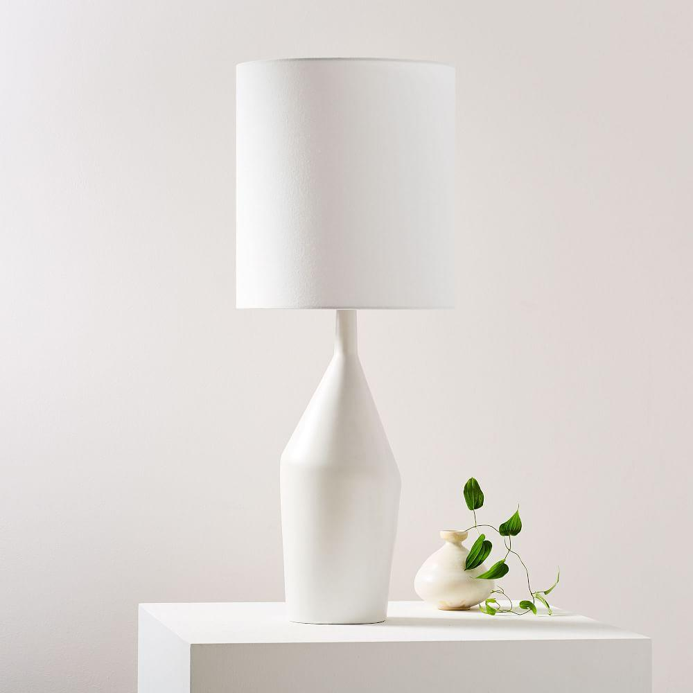 Asymmetry Ceramic Table Lamp - Large (White)