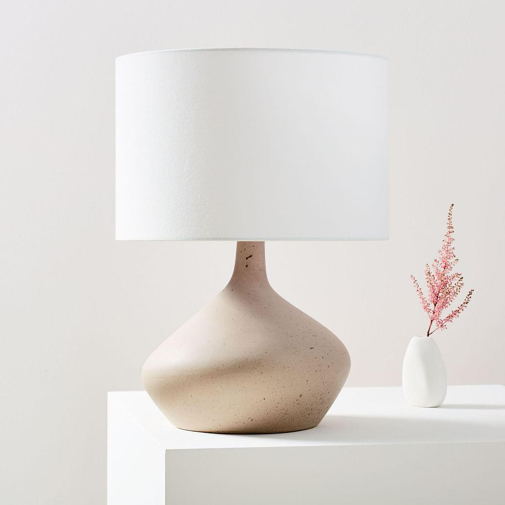 Asymmetry Ceramic Table Lamp - Small (Speckled Stone)