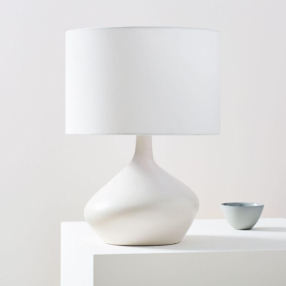 Asymmetry Ceramic Table Lamp - Small (White)