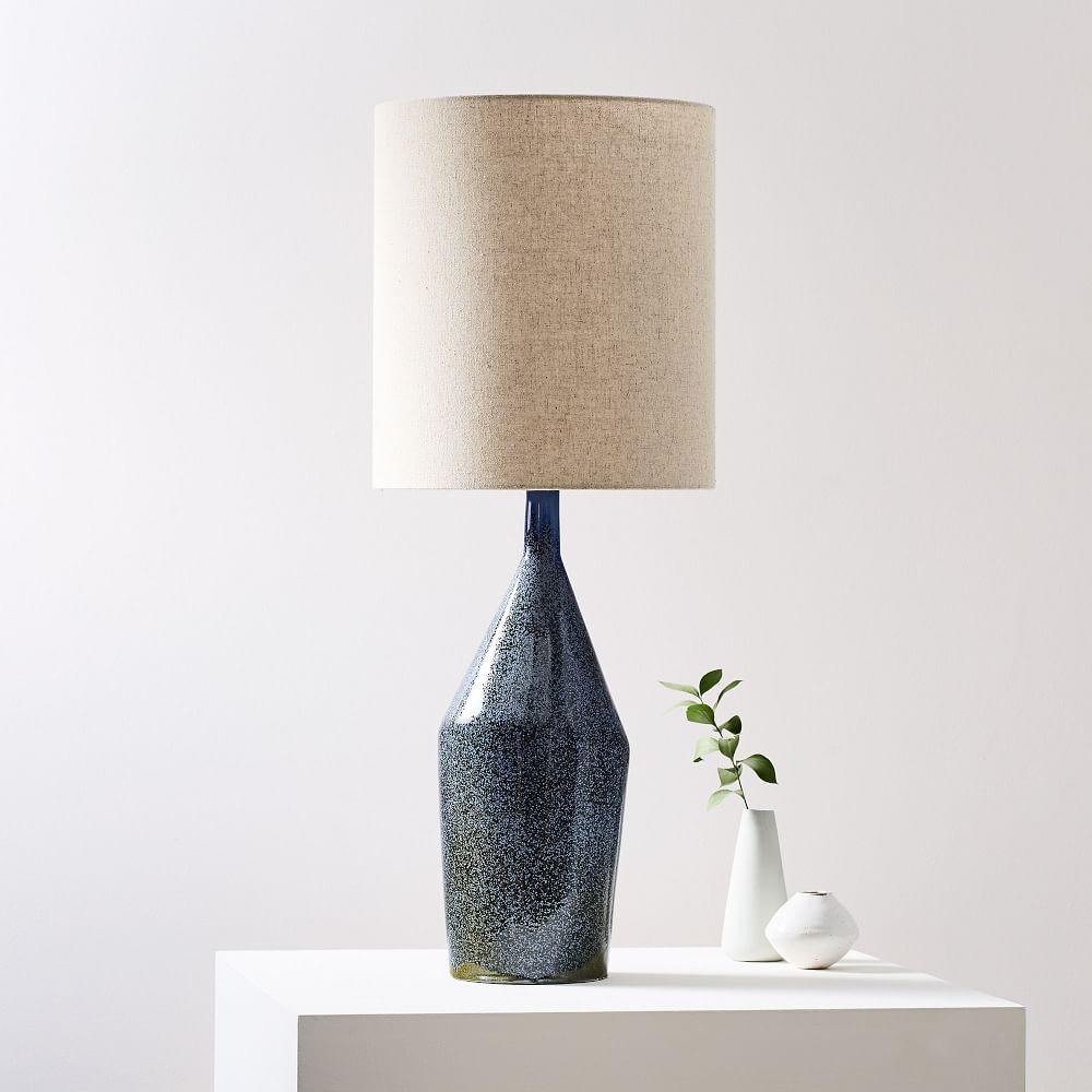 Asymmetry Ceramic Table Lamp - Large (Speckled Moss)