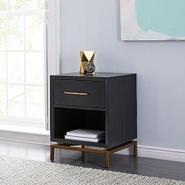 Alexa Burnished Bedside Table