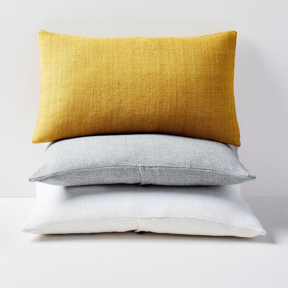 Silk Hand-Loomed Lumbar Cushion Covers