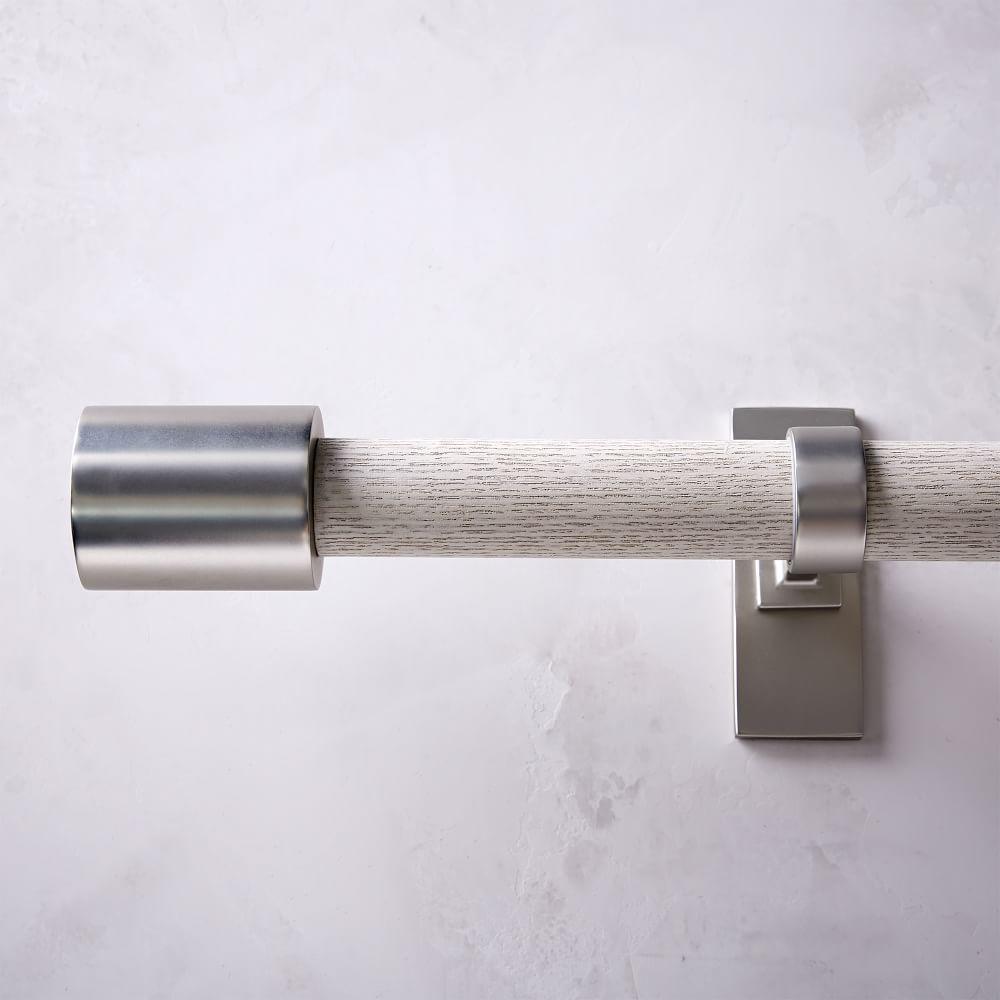 Mid-Century Wooden Rod - White