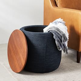 Upholstered Storage Base Footstool - Small