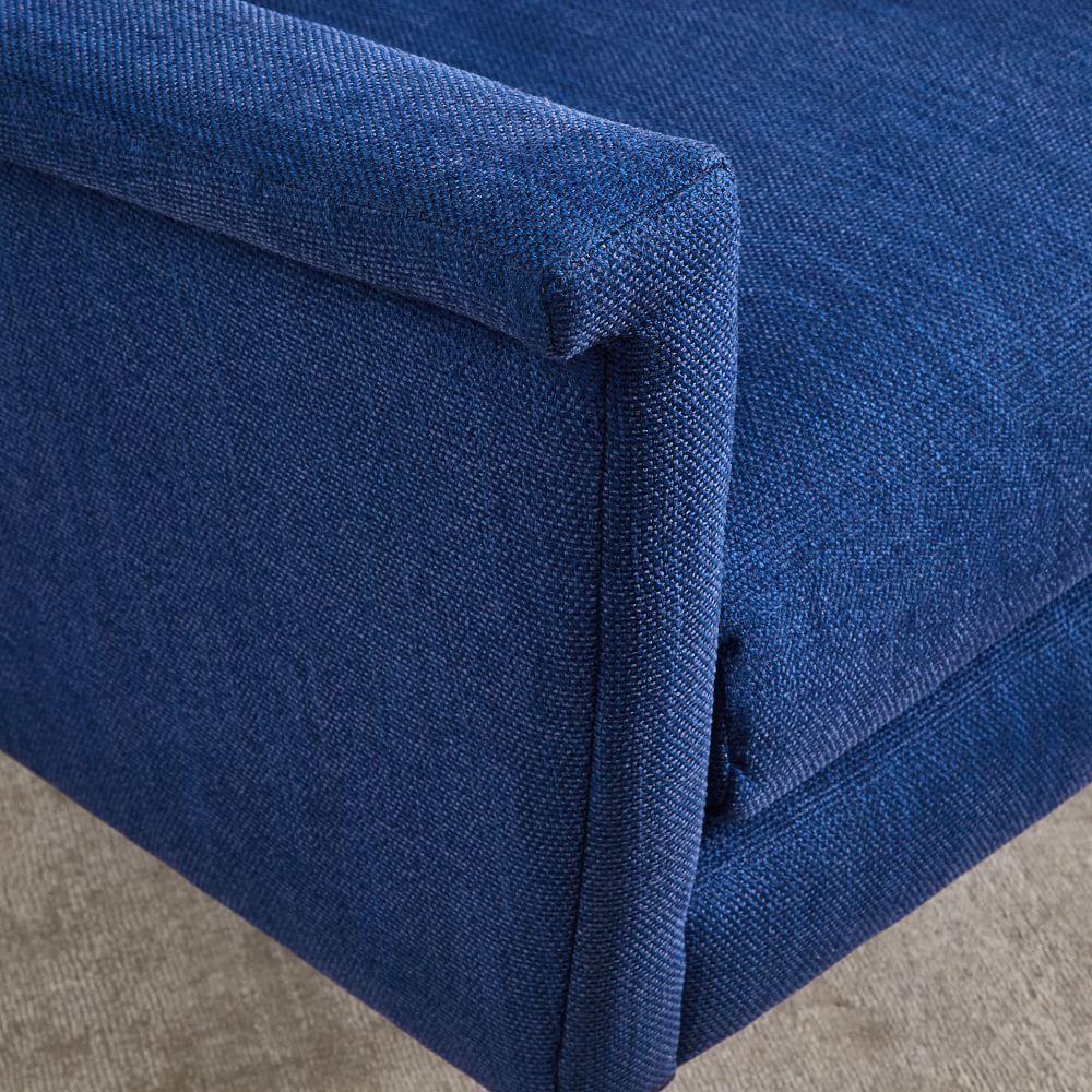 Carlo Mid-Century Chair - Sapphire (Basket Slub)