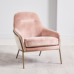 Valentina Chair - Light Pink (Distressed Velvet)