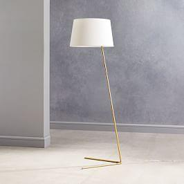Angled Outline Floor Lamp - Antique Brass