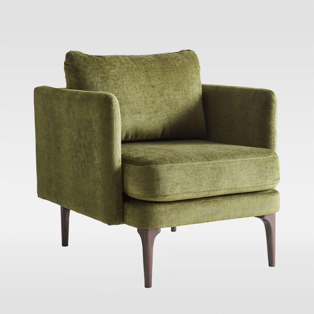 Auburn Chair - Olive (Distressed Velvet)