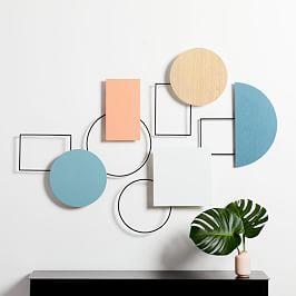Geo Assemblage Wall Art (Set of 5)