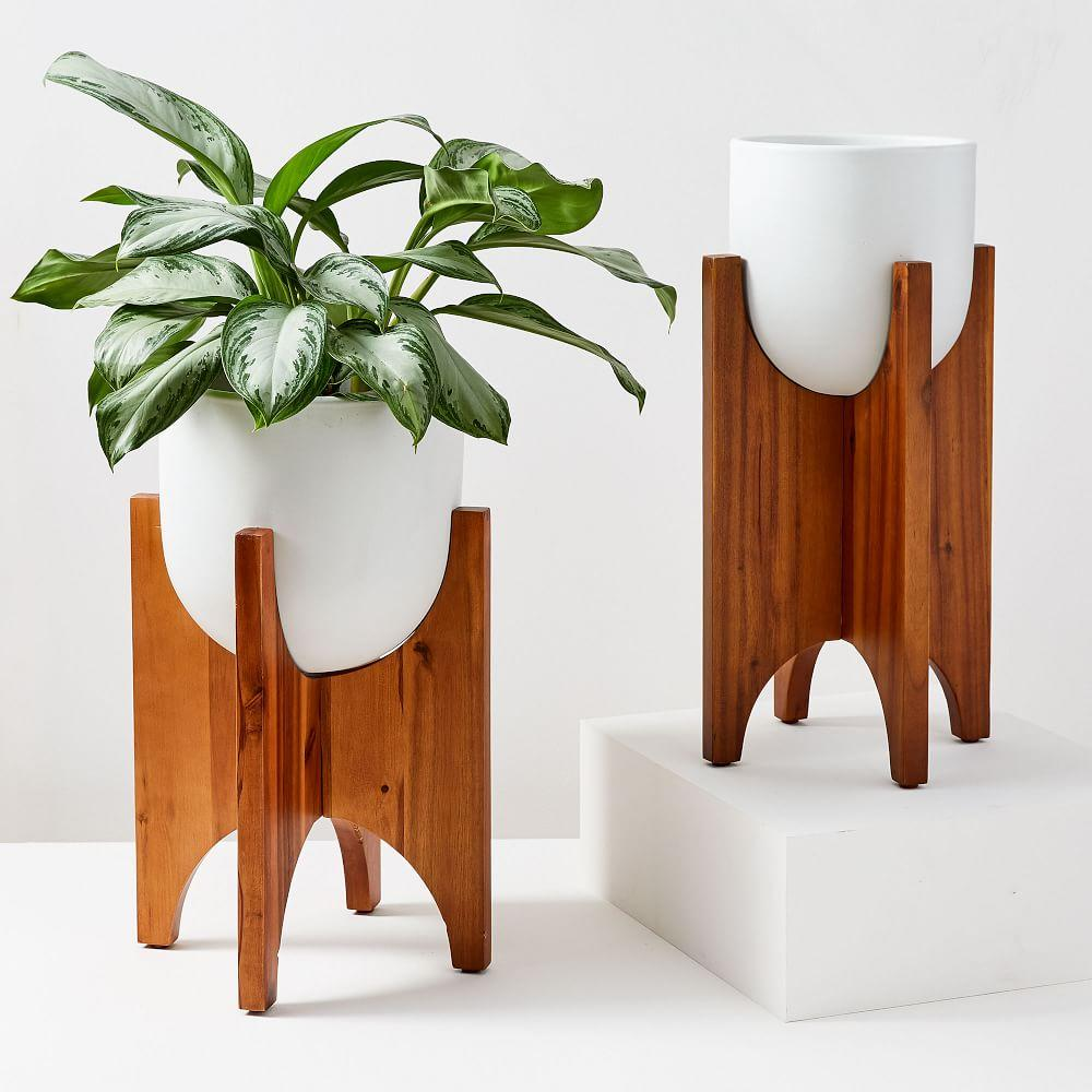 Arches Standing Planters - White