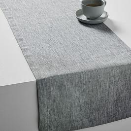 Belgian Flax Linen Melange Table Runner