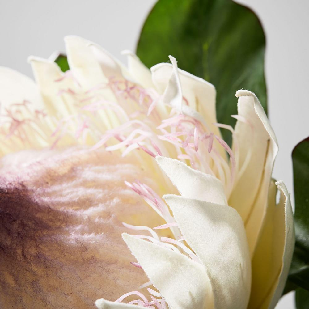 Faux Botanicals - Large White Protea