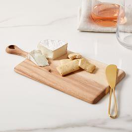 Wood Cheese Board Hosting Set